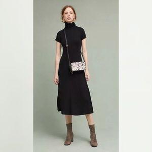 Anthropologie Maeve turtleneck short sleeve dress